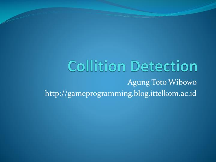 collition detection n.