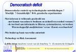 democratisch deficit