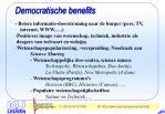 democratische benefits