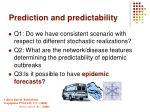 prediction and predictability