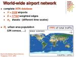 world wide airport network