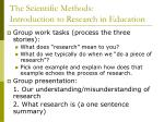 the scientific methods introduction to research in education