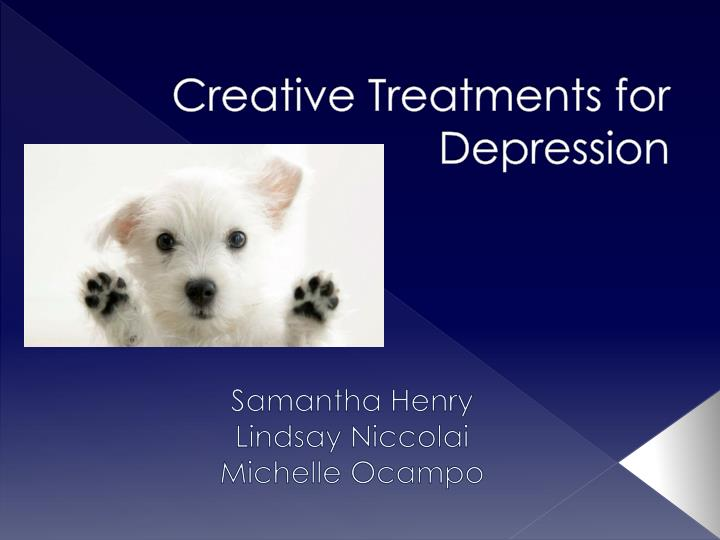 creative treatments for depression n.