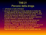 tab 21 percorsi della droga
