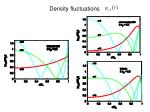 density fluctuations