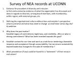 survey of nea records at uconn