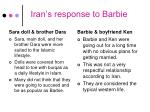 iran s response to barbie