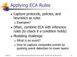 applying eca rules