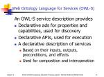 web ontology language for services owl s