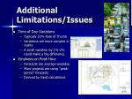 additional limitations issues1
