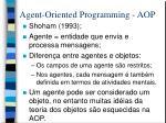 agent oriented programming aop