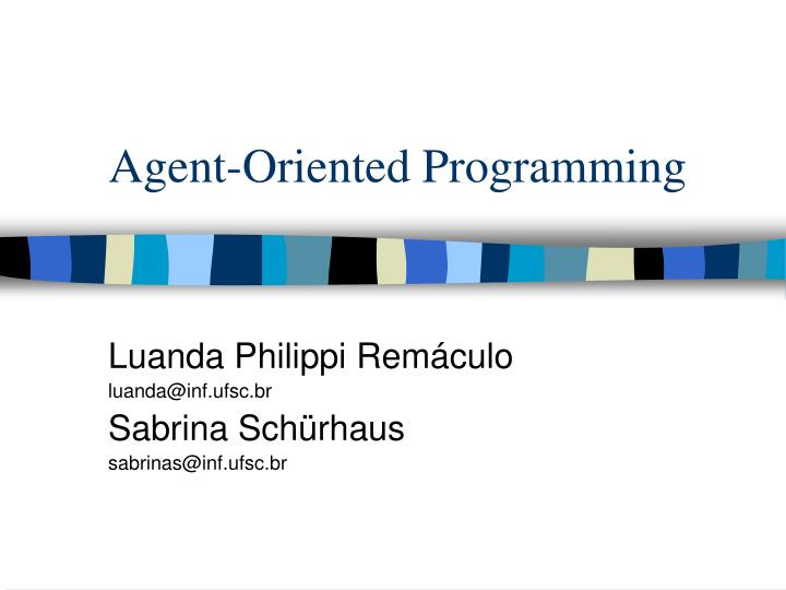 agent oriented programming n.
