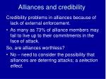 alliances and credibility