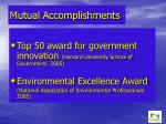 mutual accomplishments