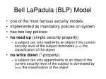 bell lapadula blp model