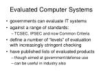 evaluated computer systems