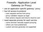 firewalls application level gateway or proxy1