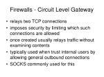 firewalls circuit level gateway1