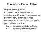firewalls packet filters1