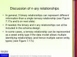 discussion of n ary relationships