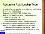 recursive relationship type