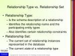 relationship type vs relationship set