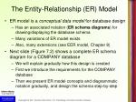 the entity relationship er model