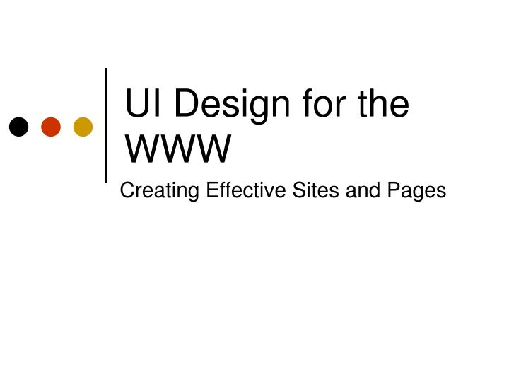ui design for the www n.