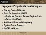 cryogenic propellants cost analysis