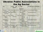 ukraine public associations in the ag sector