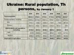 ukraine rural population th persons by january 1