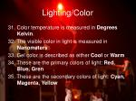lighting color