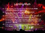lighting math