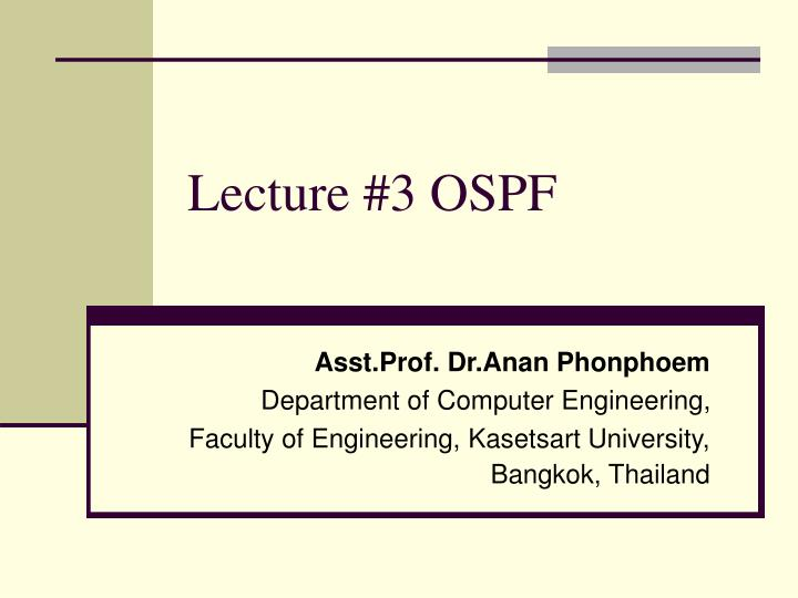 lecture 3 ospf n.