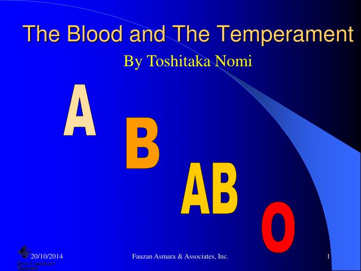 the blood and the temperament n.