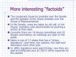 more interesting factoids
