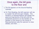 once again the bill goes to the floor and
