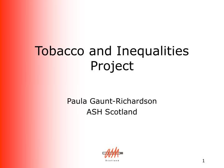 tobacco and inequalities project n.