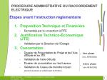 procedure administrative du raccordement electrique