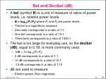 bel and decibel db