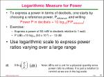 logarithmic measure for power