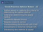 good practice advice notes ii