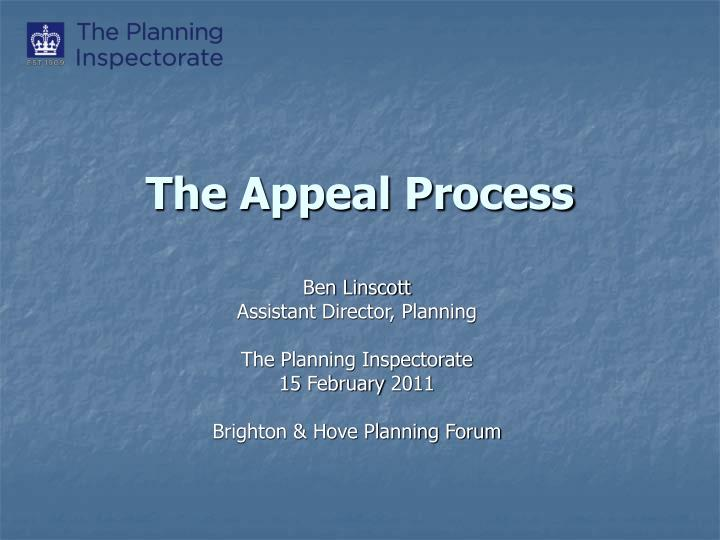 the appeal process n.