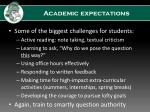 academic expectations1