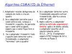 algoritmo csma cd do ethernet