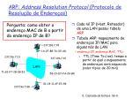 arp address resolution protocol protocolo de resolu o de endere os