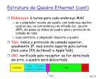 estrutura de quadro ethernet cont