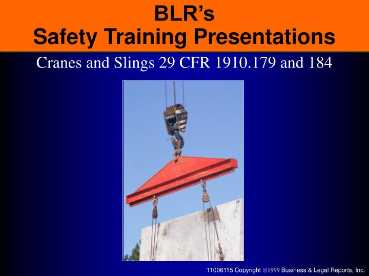 blr s safety training presentations n.