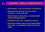 currency risks vulnerabilities