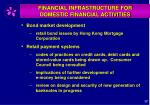 financial infrastructure for domestic financial activities1
